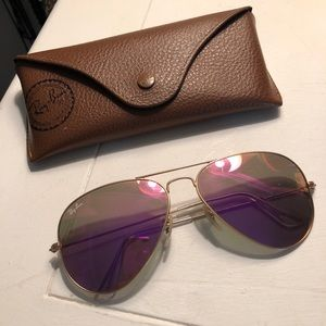 Accessories - Rayban Hot- pink Mirrored